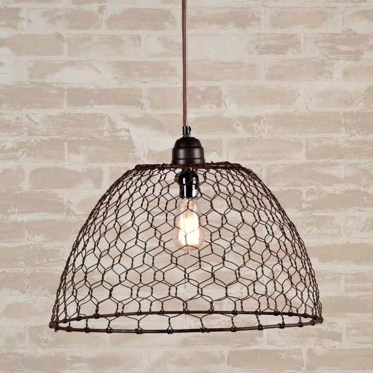 Chicken Wire Basket Pendant Light