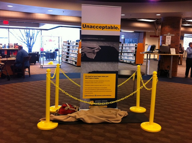 Mat at the Central Library #yyj #unacceptableyyj