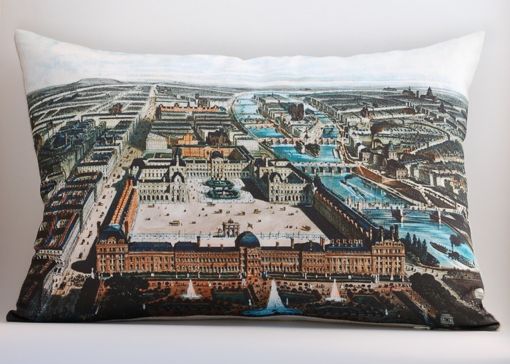 saltlabs http://saltlabs.bigcartel.com/product/vintage-bird-s-eye-view-of-paris-ready-to-ship-14-x20-pillow-cover: Vintage Birds, Awesome Pillow, Birds Eye View, Pillow Covers, Saltlabs, Salt Labs