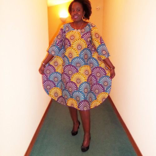 Robe droite en wax ( pagne africain )