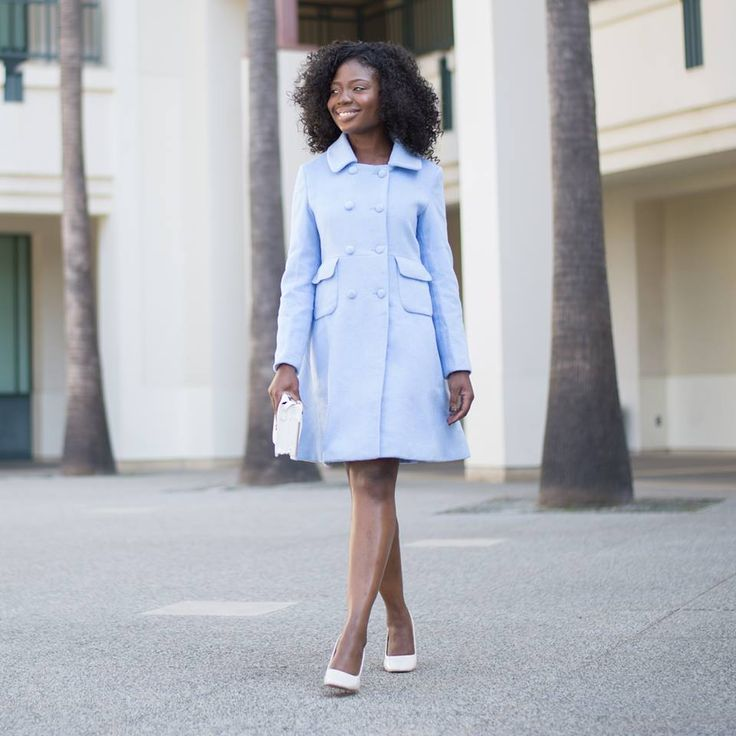 See how Ämbsie Style turns this blue coat into this chic, confident and high fashion look! Click the pic to shop the coat.