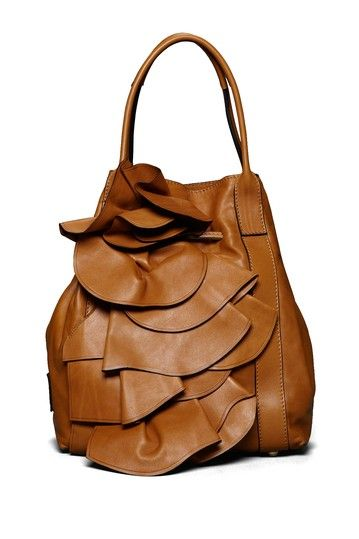 Valentino Ruffled Front Shoulder Bag