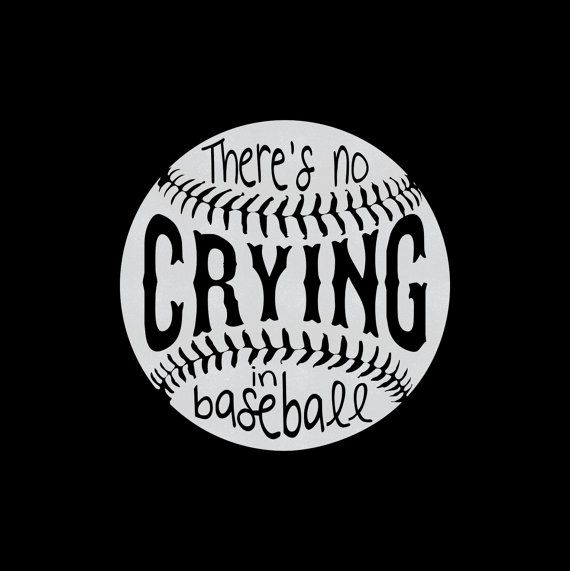 Custom There's No Crying In Baseball Iron by MyCreativeOutletTime