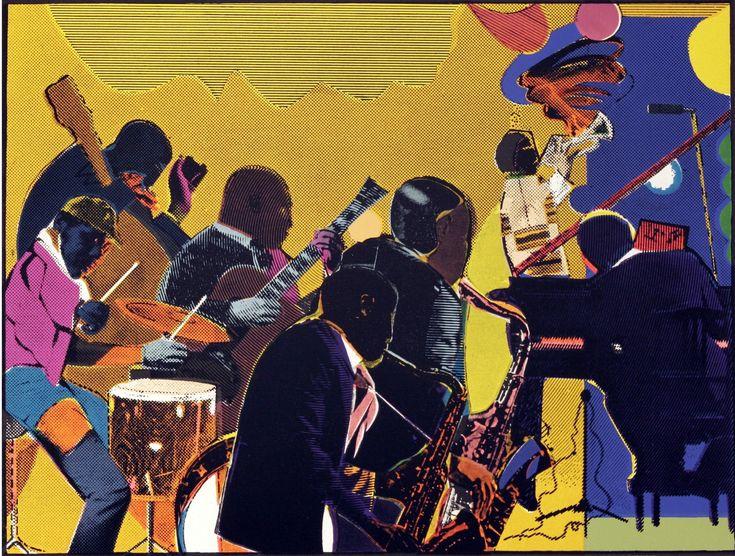 Romare Beardon's Out ChorusAfrican American, American Art, Harlem Renaissance, Africanamerican, Jacobs Lawrence, Romare Bearden, Visual Art, Music Room, Black Art