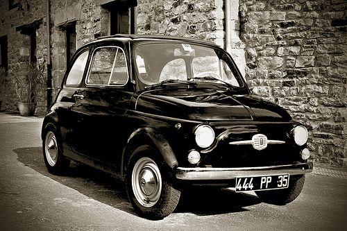 fiat 500 Black 1968 by slefevre01, via Flickr