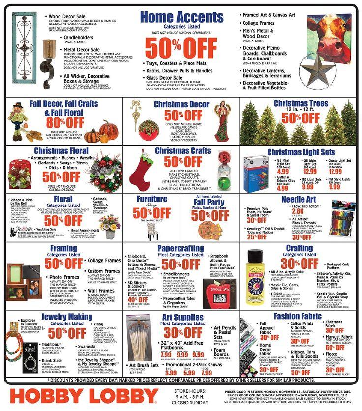 Hobby lobby weekly sales ad furniture