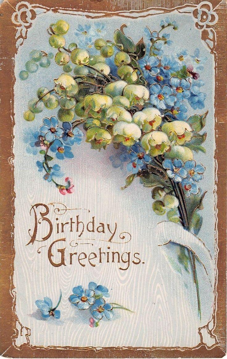 111 Best Birthday Vintage Images On Pinterest Vintage Cards
