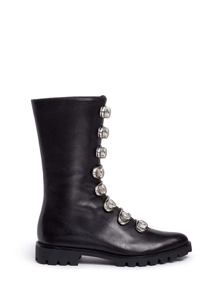 Stella Luna | Turnlock buckle leather ankle boots