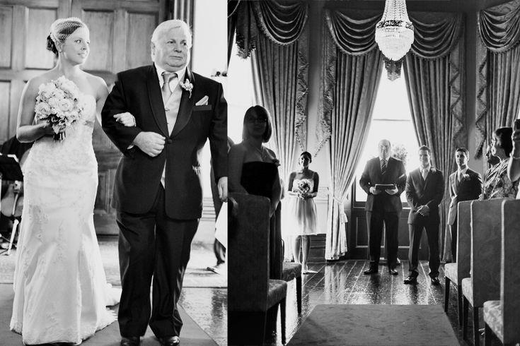 Ayers house wedding Black and White