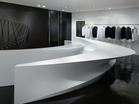 Neil Barrett boutiques in Hong Kong and Seoul, designed by Zaha Hadid / Flagship Enterprise