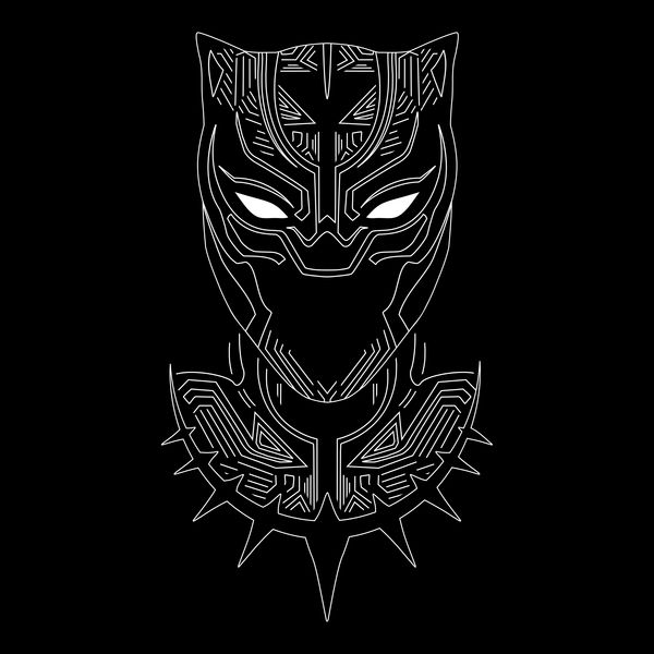 Minimalist Panther By Kempo24 Graphic Design Get Free Worldwide Shipping This Neat Design Is Ava Black Panther Tattoo Black Panther Art Black Panther Marvel
