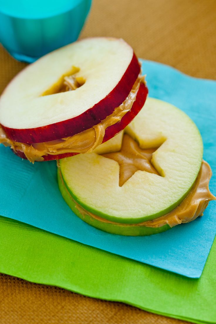 No matter how you slice it, an apple-and-peanut-butter sandwich is sure to be the star of the lunchbox.