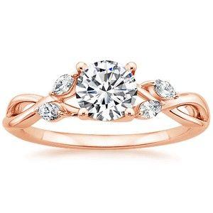 14K Rose Gold Willow Diamond Ring
