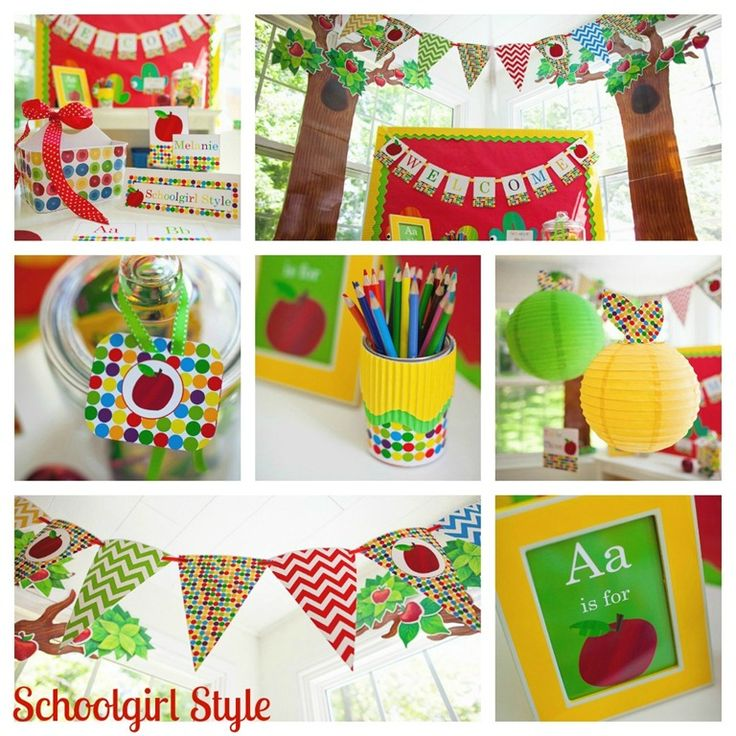 The best classrooms of 2012 by Schoolgirl Style!  Apple classroom decorating theme