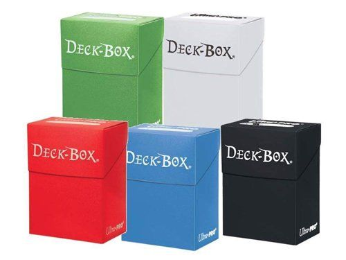 Ultra Pro Magic/Pokemon/YuGiOh Cards Deck Boxes, Set of 5 (Red, Blue, Green, Black and White))