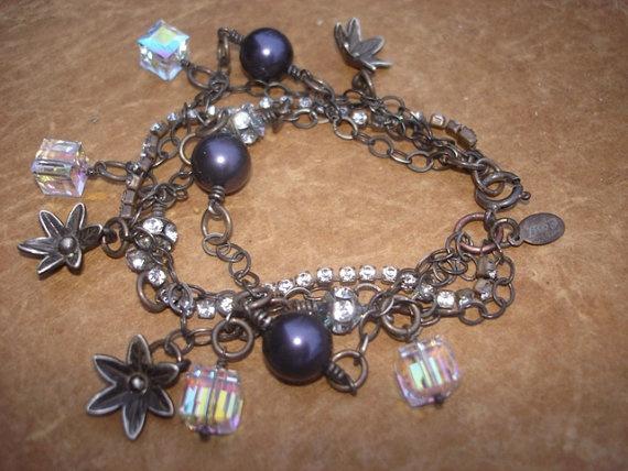 Sterling Silver Multi Strand GyPsY BoHemiAn Sparkling Bracelet.