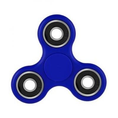 Image of Full Colour Printed Fidget Spinner. Branded Stress Relief Toy. BLUE