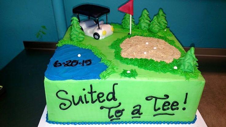 Golf groom's cake Bake Me Happy Www.bakemehappy.net