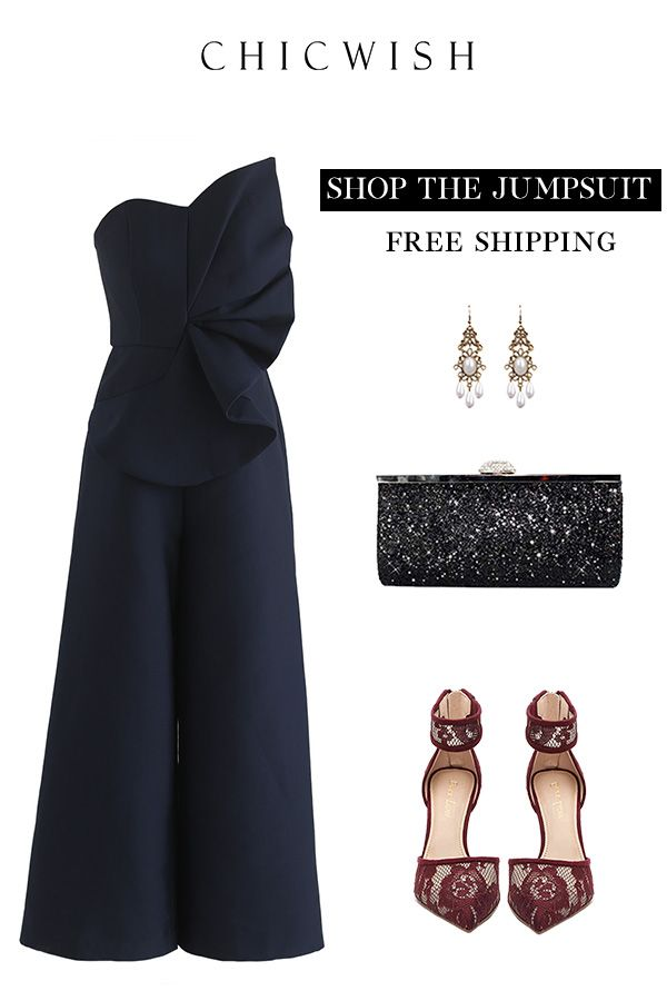 Free Shipping   Easy Return. Up to 30% Off. Go Out In Style Strapless  Jumpsuit. Shop for the cutest dress at chicwish.com.  outfit  clothing   womenfashion ... 7e90e2e14914