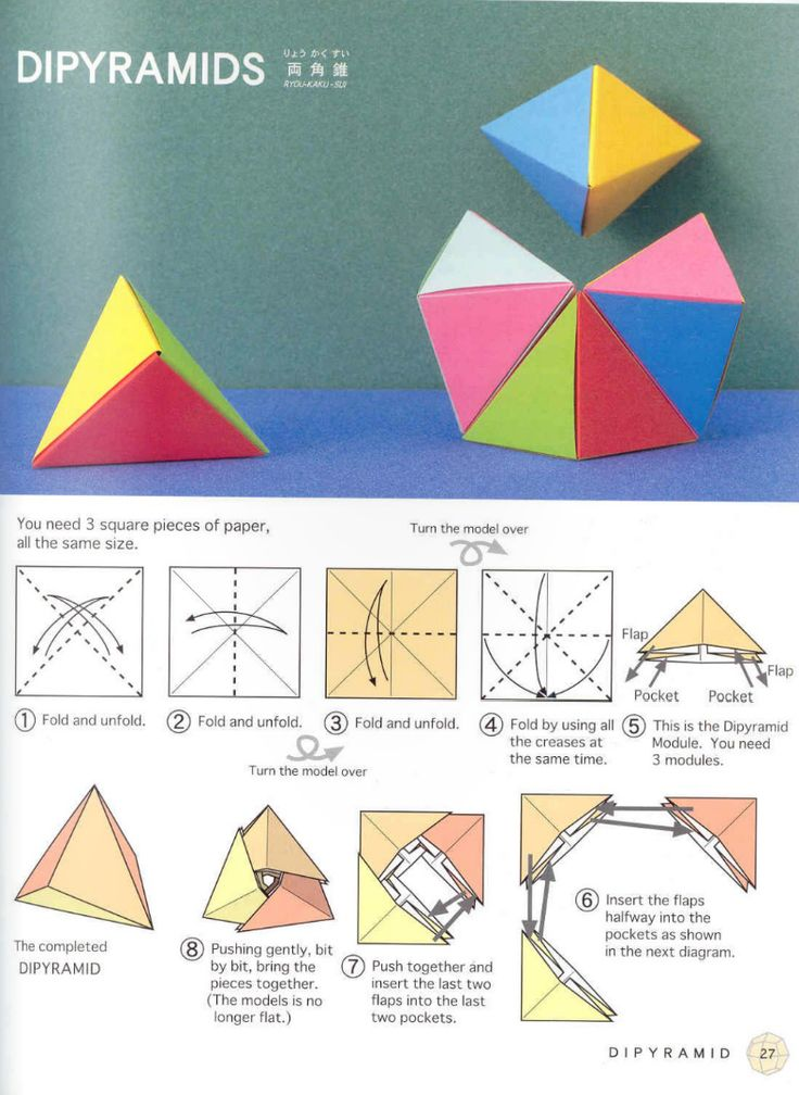 Polyhedron origami for beginners: origami triangles