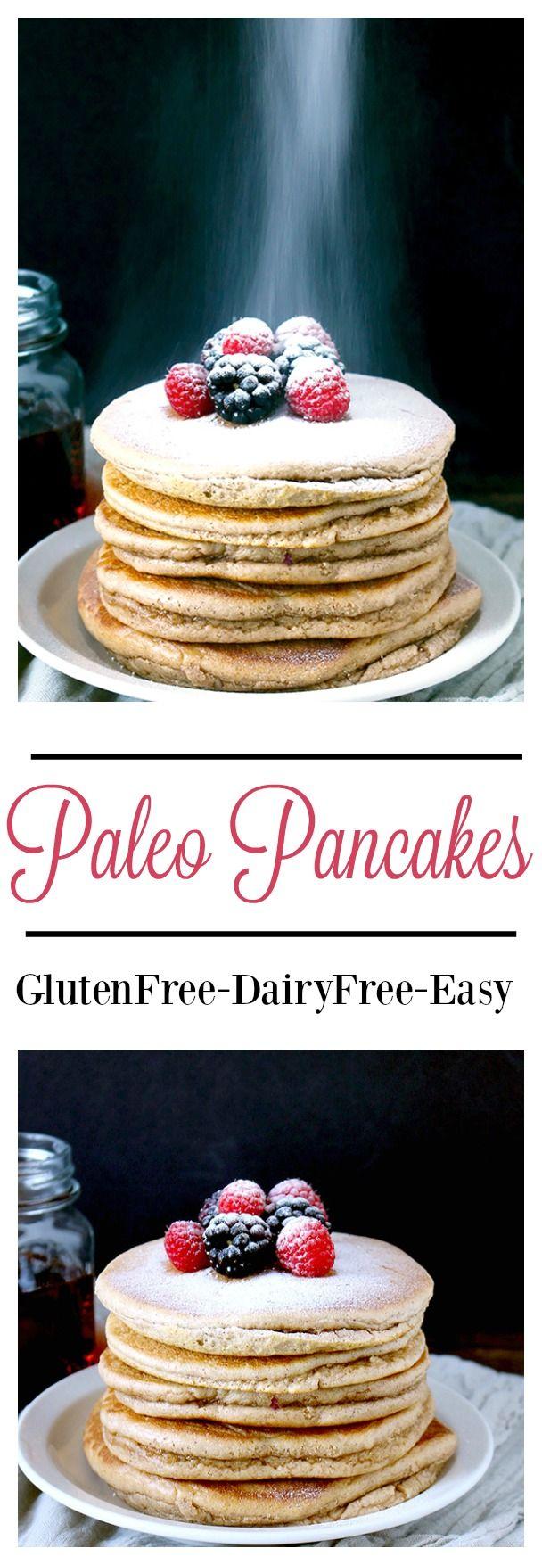 Paleo Pancakes- 6 ingredients, super easy, and taste just like regular pancakes. Gluten free, dairy free, and healthy!