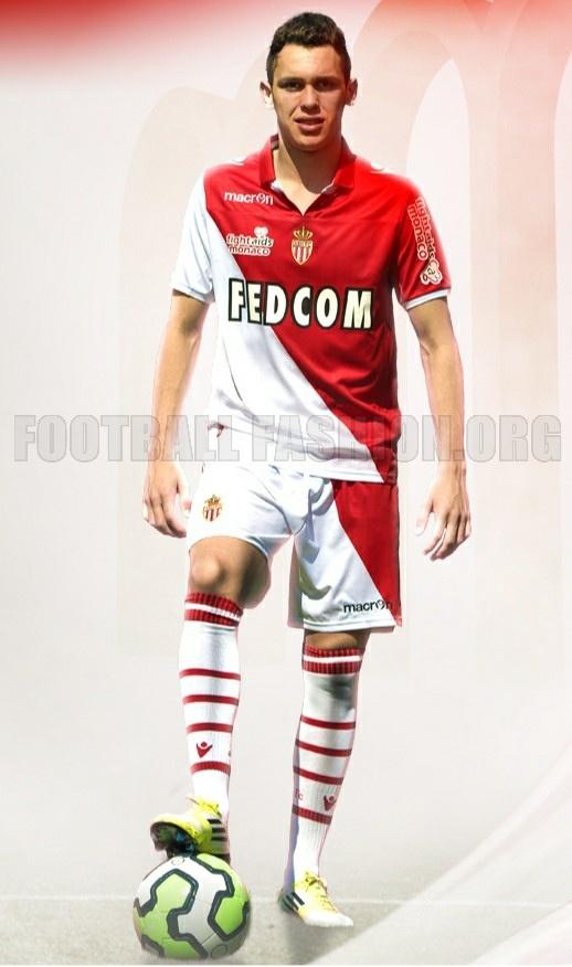 AS Monaco Macron 2012/13 Home Kit