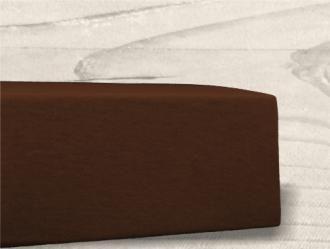 Grasshopper Posteľná plachta Jersey - Čokoládová 90x200