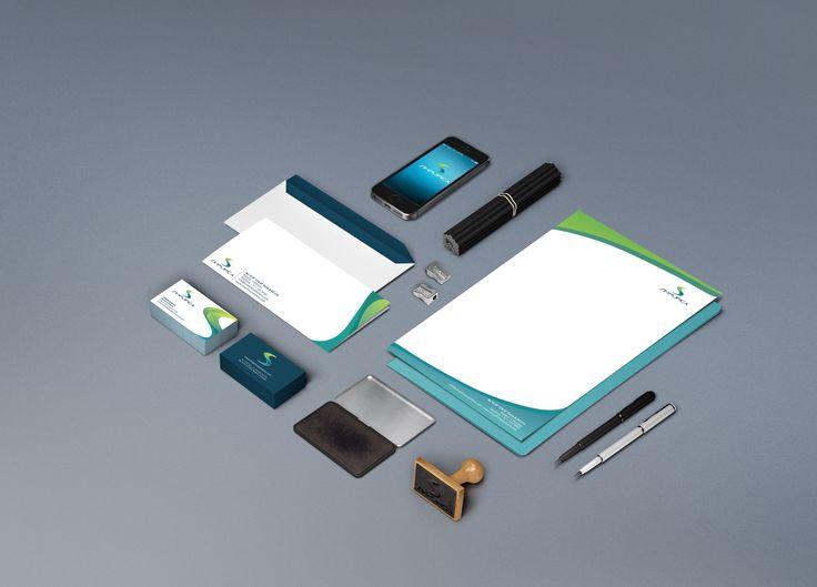 Diseño de Papeleria Simplifica Solutions (diseño de logo, membrete, sobres, tarjeta de presentación)