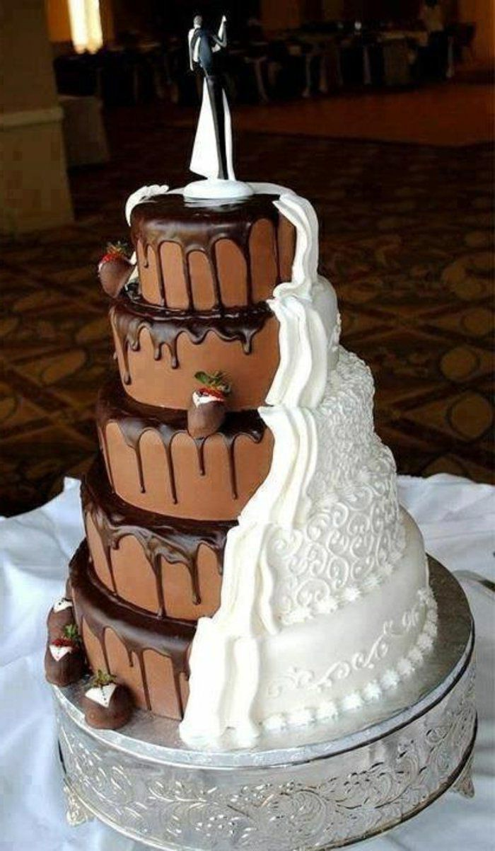 gateau de mariage original avec vanille et chocolat