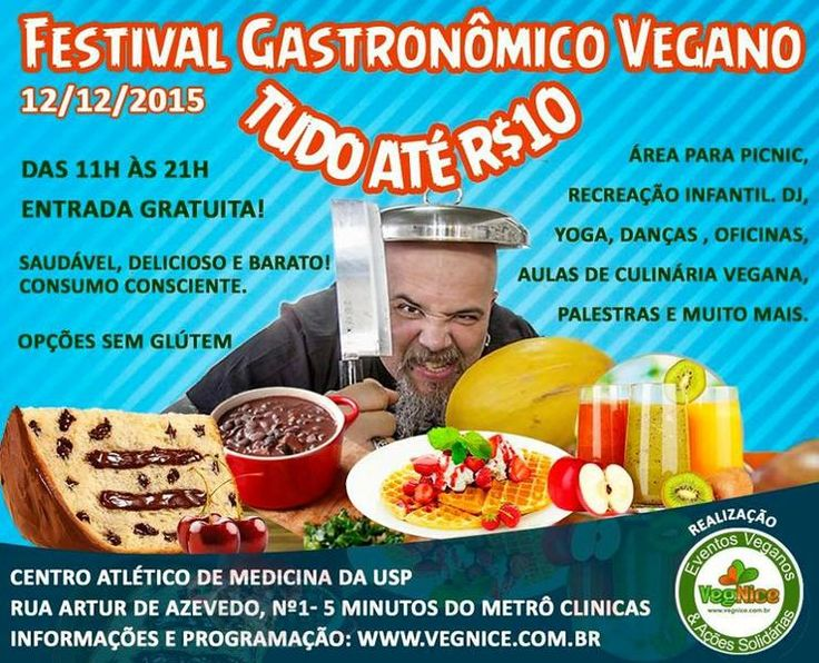 Festival Gastronômico Vegano-Tudo até R$10,00 | Evento
