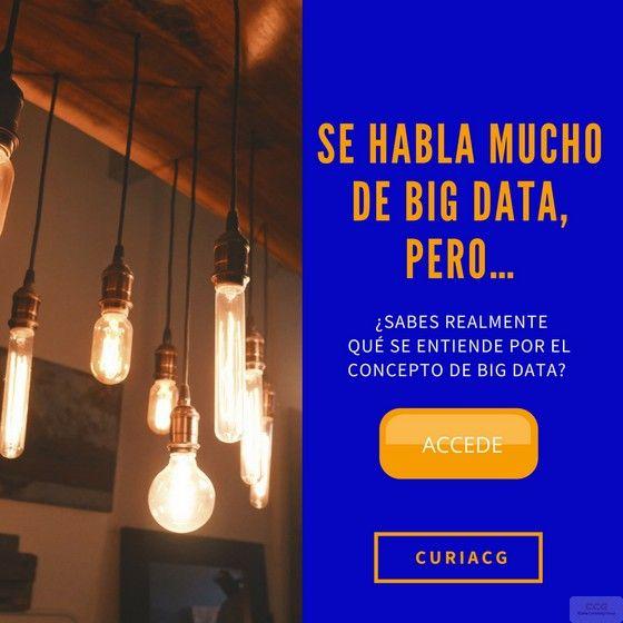 Se habla mucho de BIG DATA, pero… ¿Sabes realmente qué se entiende por el concepto de #BigData?   Su implantación demanda el equilibrio entre dos derechos fundamentales, el Derecho a la Información y el Derecho a la Protección de Datos.