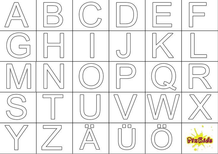 ausmalbilder alphabet ausdrucken httpwwwausmalbilder
