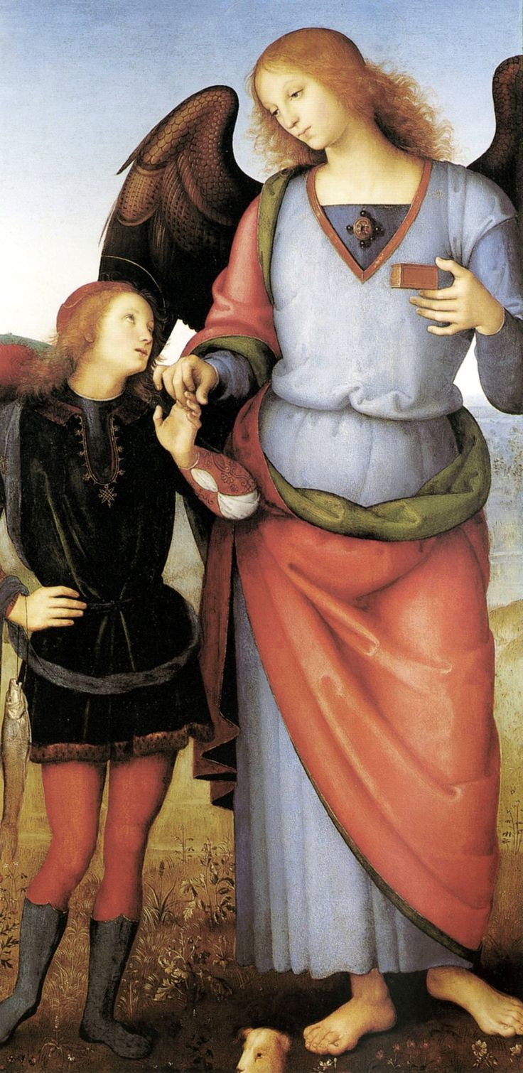 Archangel Raphael with Tobias - Pietro Perugino  ArtExperienceNYC