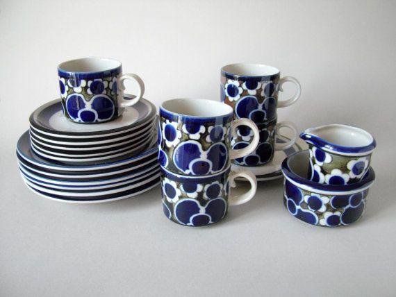 Vintage Arabia Finland Saara cup saucer plate by LeKosmosBerlin