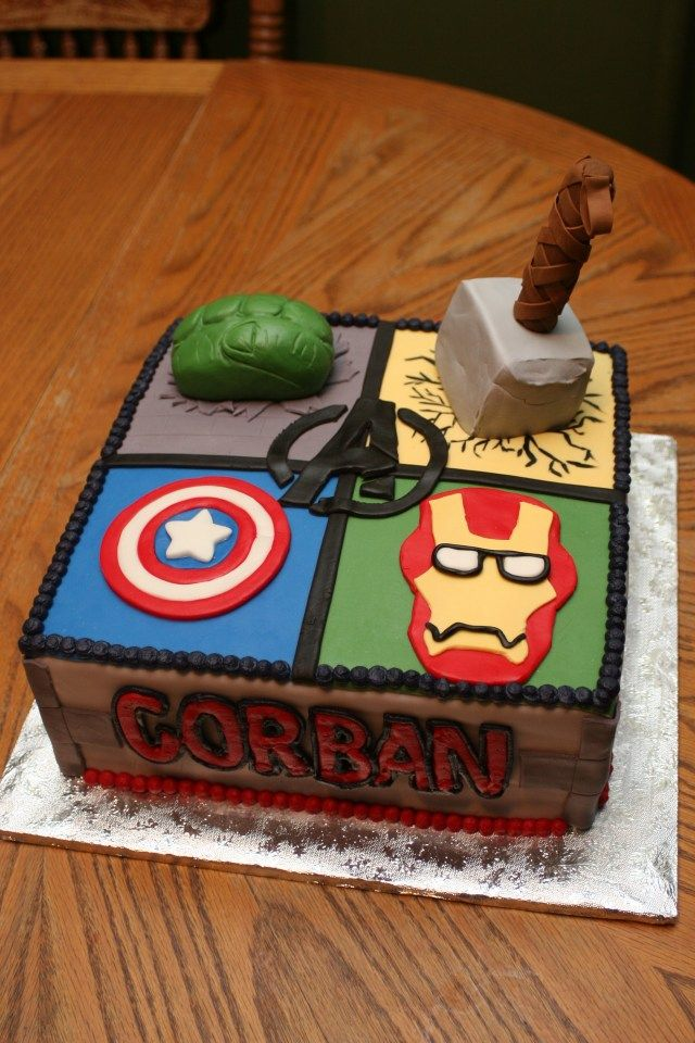 Pleasant 34 Beautiful Image Of Avenger Birthday Cake With Images Funny Birthday Cards Online Alyptdamsfinfo