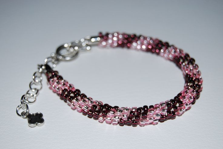 Coloured Beaded Bracelet made with TOHO beads - handmade using the Kumihimo technique by BeaduBeadu on Etsy