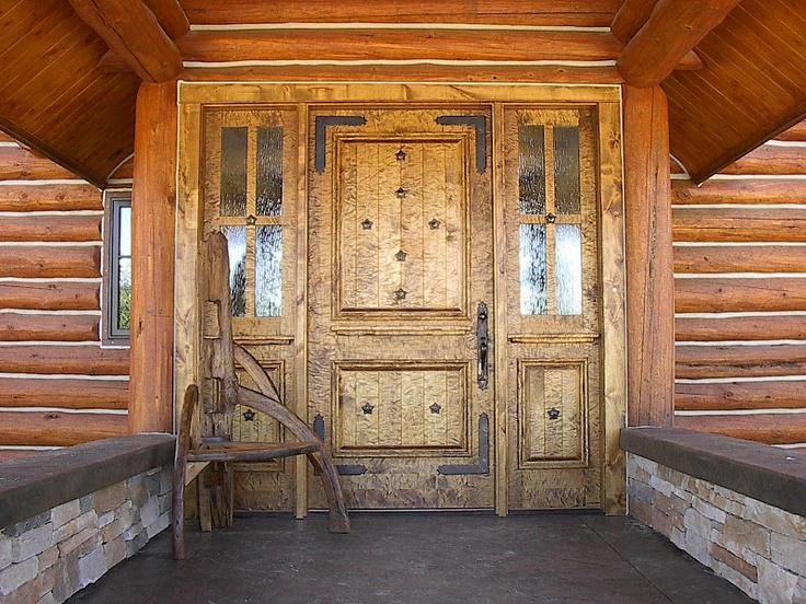 Rustic Custom Entry Knotty Alder Door Love This Door