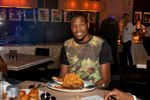 Want the scoop on Kevin Durant's new restaurant in Bricktown? Just click the picture of the man himself enjoying a juicy steak at KD's Southern Cuisine in Oklahoma City to find out more.