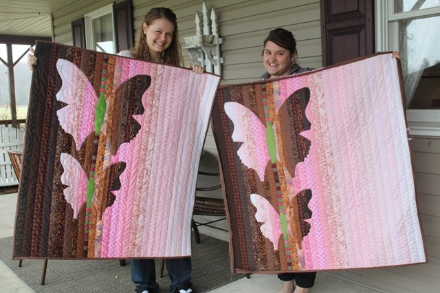 Holly and Alicia made these lovely quilts for baby gifts.