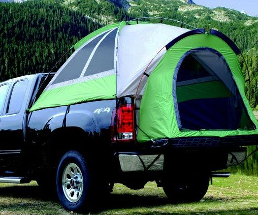 Turn your vehicle into a safe and cozy camper with the pickup truck bed tent. This portable shelter fits most pickup truck beds and comes with sealed windows along with features like an extra large entrance to make your stay in the outdoors as pleasant as possible.