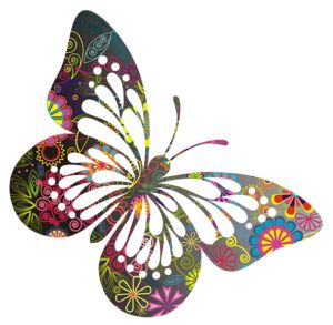 Super cute peace-themed butterfly embellishment!!!