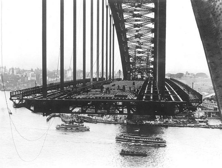 Harbour Bridge floor in construction. c.1930s