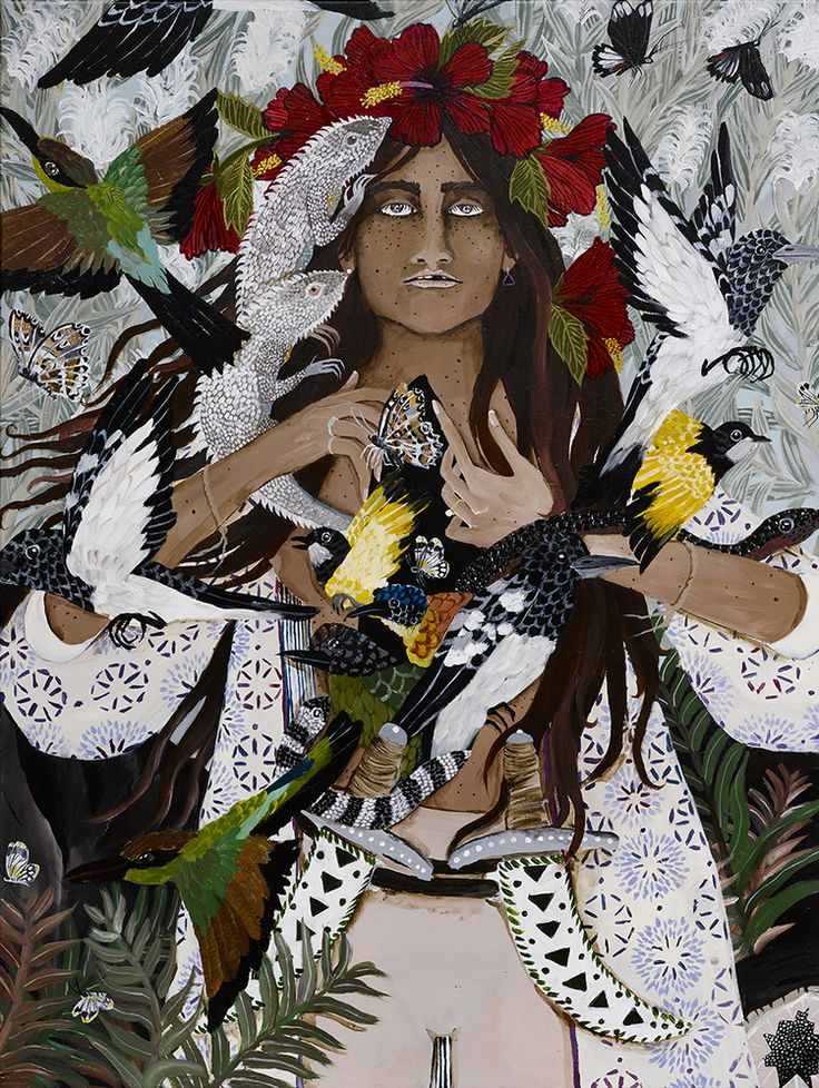 Ceremonial paintings that speak to the heart by Leah Fraser.
