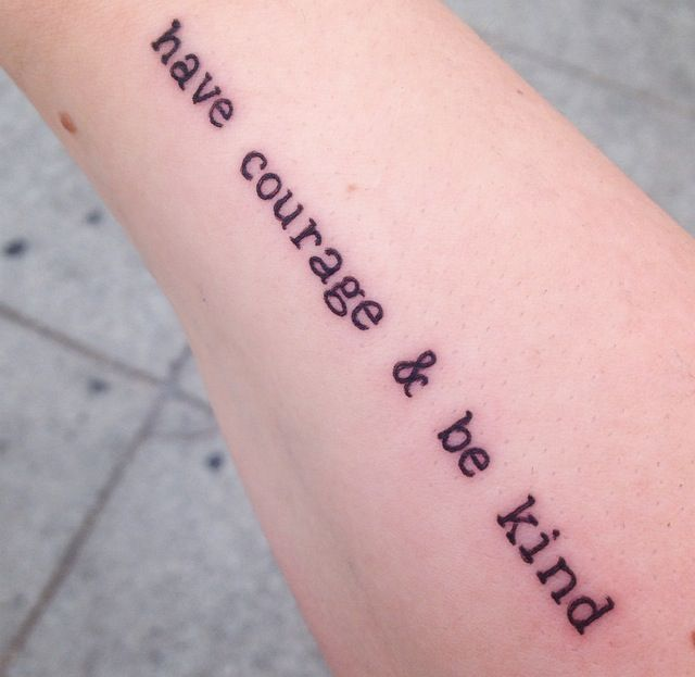 Have courage and be kind Cinderella tattoo