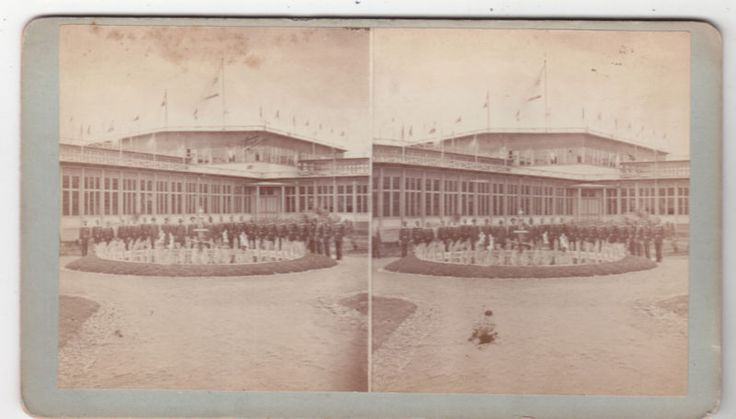 1881 INTERNATIONAL COTTON EXPOSITION ATLANTA. Stereoview by Stoddart of the 1881 exposition building