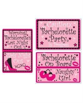 Bachelorette Party Auto Clings