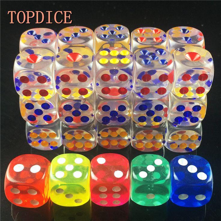 [TOPDICE] 10 stks/partij 14mm clear kleurrijke Digitale Dobbelstenen Clear volwassen liefde romantiek kleine gift hoge kwaliteit spelen rpg game cube set