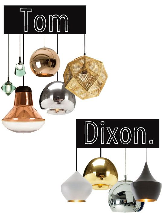 Tom Dixon pendants.