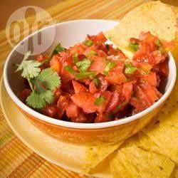Zomerse aardbeien salsa