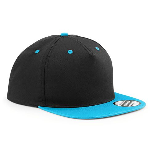 B601C Beechfield 5 Panel Contrast Snapback A cotton 5 panel snapback with contrast visor. - 100% cotton twill - Flat peak with contrast detailing - Snapback size adjuster - 70g - Price from £1.70